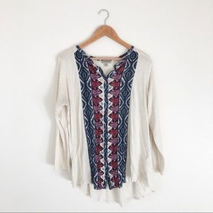 Lucky Brand White Top with Print Front